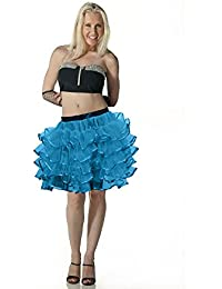 Crazy Chick Ladies Turqouise Ballet Dance 4 Layer Tutu With Ribbon Skirts Fance Dress
