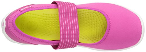 Crocs - Damen-Duo Beschäftigter Tag Mary Jane Candy Pink/White