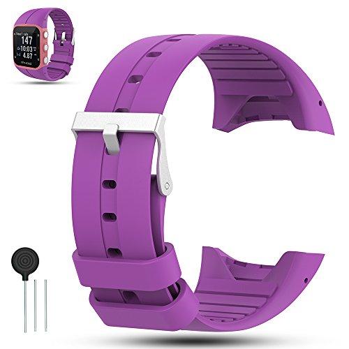 Para Polar M400 GPS Smart Watch Banda Correa, iFeeker Accesorio Soft Rubber Silicona Reemplazo Watch Correa Pulsera Sport pulsera para Polar M400 GPS Watch, púrpura
