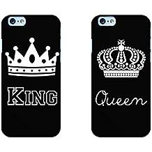 910f857165 Coppia Cover fidanzati Love King Queen Rigida per iPhone 6 6S 7 Regalo  Natale San Valentino