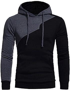 [Patrocinado]Sudaderas Hombre Baratas Amlaiworld Sudadera con capucha para hombre patchwork Tops chaqueta abrigo ropa