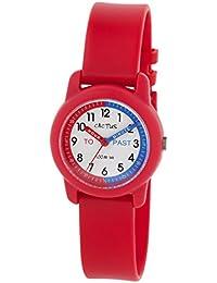 Cactus CAC-69-M07 - Reloj de pulsera niños, Plástico, color Rojo