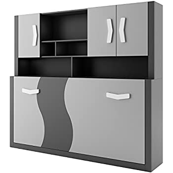 bumerang schrankbett bett mit matratze 186x80x15 k che haushalt. Black Bedroom Furniture Sets. Home Design Ideas