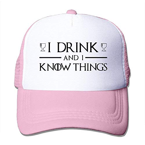 WPLON Personality Caps Hats Style I Drink I Know Things Quotes Trucker Hats Snapbacks Cap