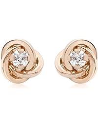 Carissima Gold Pendientes de Oro Rosa con Circonita para Mujer