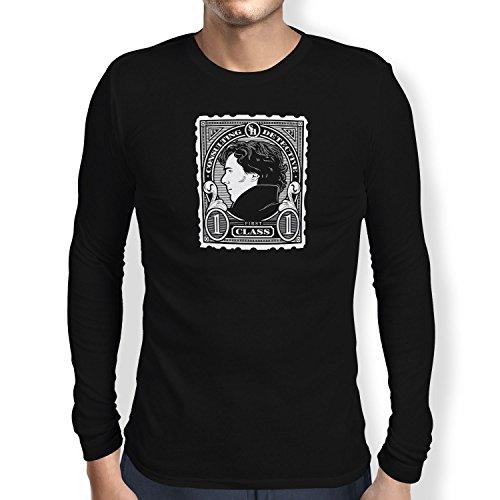 TEXLAB - Sherlock Consulting Detective - Herren Langarm T-Shirt, Größe M, schwarz (Cumberbatch Sherlock Kostüm)