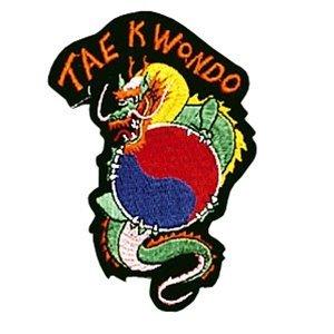 AWMA Dragon/Tae Kwon Do Patch-10,2cm Dia. (Uniform Taekwondo Patch)