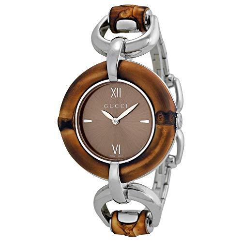 GUCCI orologio donna BAMBOO bracciale bambu e acciaio 35mm YA132402