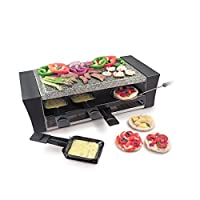 Swissmar KF-77087 Locarno Pizza Raclette Party Grill with Stone Plate, Black