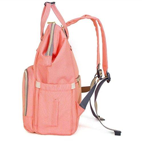 FZHLY Zaino Moda Multifunzionale Grande Capacità Borsa A Tracolla Outdoor,ColorBlue Pink