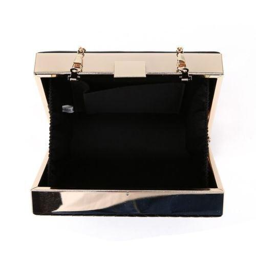 Kukubird Hanna freccia Stitch scatola frizione borsa borsa partito Prom con sacchetto raccoglipolvere Kukubird Champagne