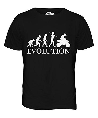 CandyMix Quad Evolution Des Menschen Herren T Shirt Schwarz