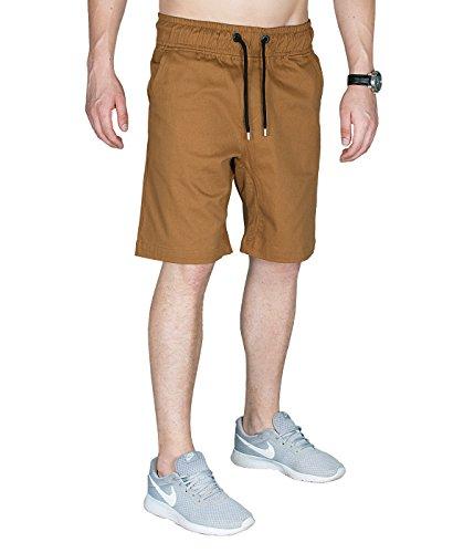 Betterstylz MasonBZ Chino Jogger Pantalon Short Chino Èlégant Military Homme 3 couleurs (S-XXL) Camel