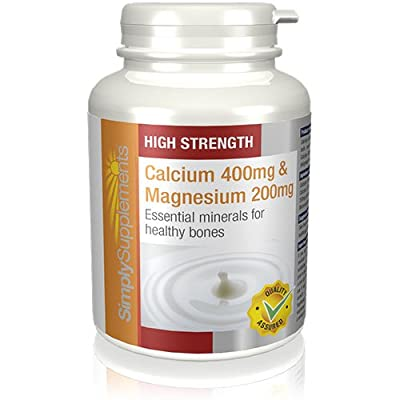 SimplySupplements Calcium 400mg & Magnesium 200mg |For Healthy Teeth, Nails & Bones| 120 Tablets by Simply Supplements