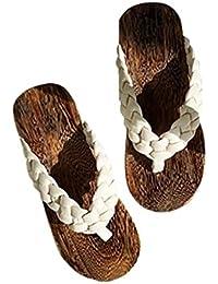 824961920 Zapatillas Zuecos Chanclas para Hombres Estilo Chino Antideslizantes  Sandalias de Madera de Estilo Japonés Zapatillas de Verano para…