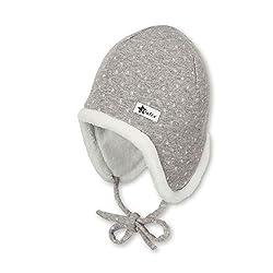 Sterntaler Inka-Mütze für Mädchen mit kuscheligem Innenfutter, Gefüttert, Alter: Alter: 3-4 Monate, Größe: 39, Grau (Kiesel)