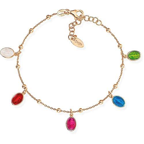 Pulsera mujer joyas Amen BRMSR pulseras medalla Virgen Milagrosa Amen