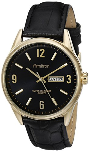 armitron-mens-20-5048bkgpbk-day-date-function-dial-black-leather-strap-watch