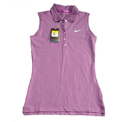 Nike Golf Frauen Präzision Ärmelloses Pique Polo Lila 725641 576 (s) (Piqué Frauen Golf-polo)