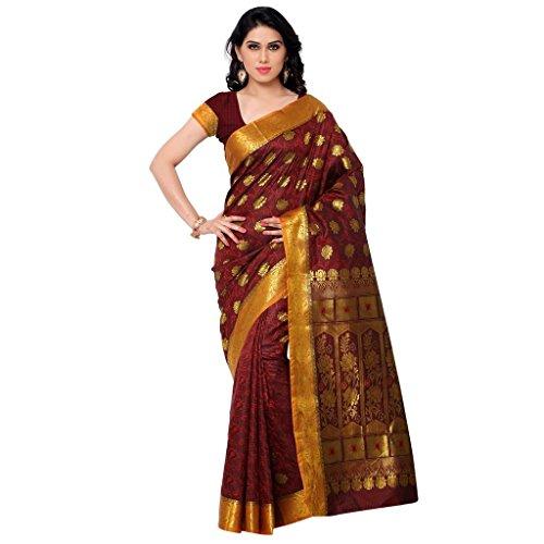 Varkala Silk Sarees Silk Kanchipuram Saree With Blouse Piece (SS3113RD_Red)