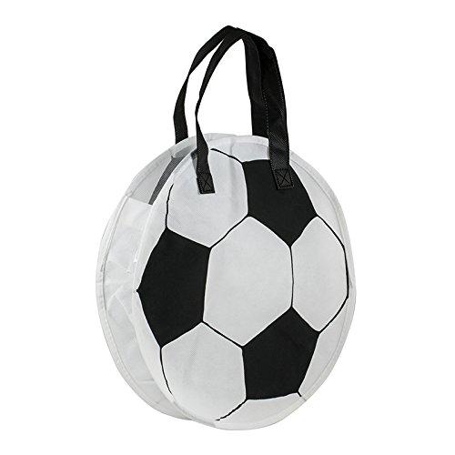 Einkaufstasche / Non-Woven-Tasche ( 1 Stück ) Format: 30 x 30 + 8 cm Falte umlaufend, 2 Tragehenkel, Material: Polypropylen, Design: Fußball - für DE kostenlose Lieferung ab EUR 29,00