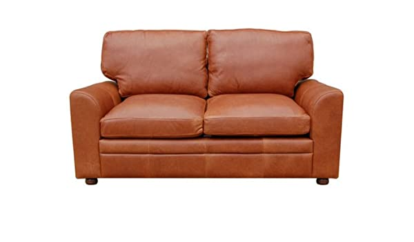 Seattle 3 Seater Vintage Leather Sofa (Tan Leather): Amazon.co.uk ...