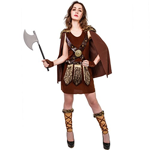 Kostüm Warrior Damen - SEA HARE Viking Roman Warrior Kostüm für Damen