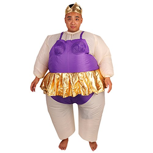 MagiDeal Aufblasbar Tänzerin Kostüm Ballerina Fat Suit Fettkostüm Balett (Aufblasbares Ballerina Kostüm)