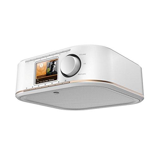 Hama Internetradio IR350, unterbaufähig (WLAN Küchenradio, 2,4 Zoll Farbdisplay, Fernbedienung via gratis Radio-App, Weck- und WiFi-Streamingfunktion, Multiroom) weiß/kupfer
