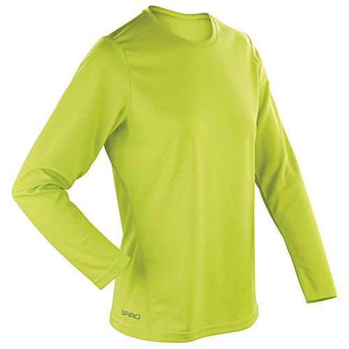 T-shirt de sports couche de base manches longues pour femme de New Spiro Vert - Vert citron