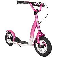 Bikestar SC-10-KK-01-PKWE - Patinete infantil, color rosa y blanco