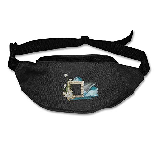 Waist Bag Fanny Pack Dolphin Photo Frame Unisex Outdoor Sports Pouch Running Belt Fitness Travel Pocket Purse (Frame Photo Passport)