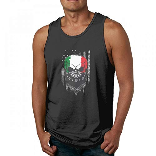 43f8380bb6 Retro Italian Living in America Awesome Men's Quick-Dry Loose-Fit Crew  Tanks Shirts
