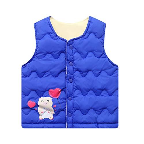2-7 Jahre Mädchen Jungen Warme Weste, sunnymi ® Kleinkind Kinder Baby Feste Gestreifte Outwear Mantel