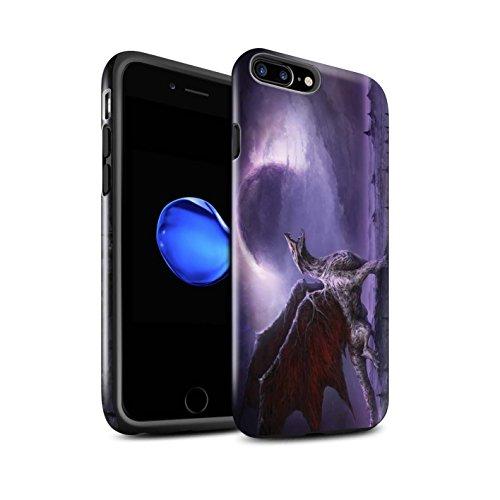 Offiziell Chris Cold Hülle / Glanz Harten Stoßfest Case für Apple iPhone 8 Plus / Hohe Königin Muster / Dunkle Kunst Dämon Kollektion Drachen/Finsternis