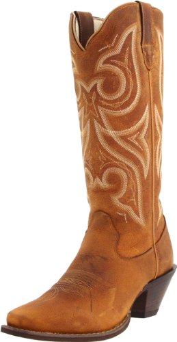 Durango, Damen Stiefel & Stiefeletten  braun hautfarben, braun - Distressed Cognac - Größe: 39,5 EU (Distressed Braun Stiefel Cowboy)
