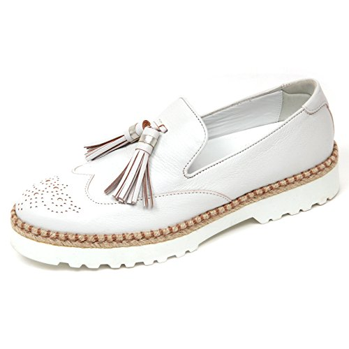 D0332 mocassino donna hogan h311 scarpa bianco platino slip on shoe woman [40]