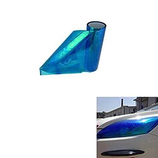 ABy 200cm x 30cm Scheinwerfer Folie Tönungsfolie Aufkleber für Auto Scheinwerfer Rückleuchten Blinker Nebelscheinwerfer(Blau)