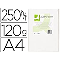 Q-Connect Papel Fotocopiadora Ultra White Din A4 120 Gramos Paquete De 250 Hojas