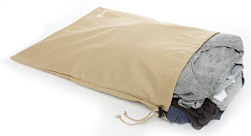 HOPEVILLE Packbeutel-Set 4-teilig, Organizer Beutel für Koffer, Rucksack und Reisetasche, Premium Reisebeutel Set als Schuhbeutel, Wäschebeutel oder Reisedokumententasche in drei verschiedenen Größen