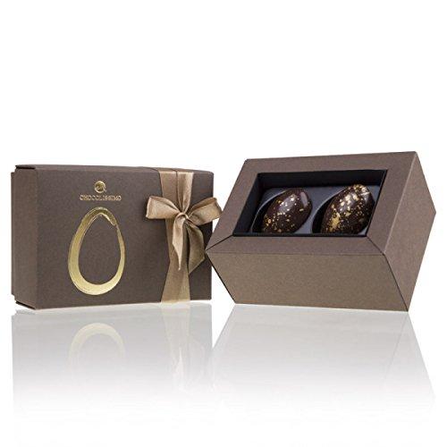 2 Golden Half Eggs - Osterei-Hälften aus Schokolade, Schokoladeneier, Ostern Schokolade, Ostereier Schokolade