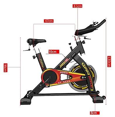 Lcyy-Bike Indoor Cycling Fahrradtrainer Infinite Resistance 13 Kg Flywheel Cardio Workout Mit Monitor & Kettle Holder Belt Drive Adjustable Lenker & Seat Höhe Für Men/Women Black
