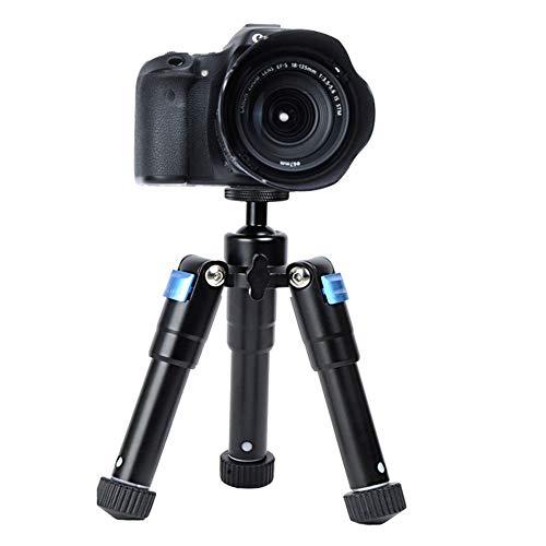 WXQP Desktop-Mini-Stativ, tragbare Aluminium-Stativhalterung, höhenverstellbar mit 360-Grad-Kugelkopf für Digitalkameras, Video-Mikroaufnahmen