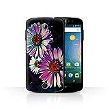 eSwish Hülle/Case für Acer Liquid Z530 / Blumen Gänseblümchen Muster/Neon Farben Kollektion