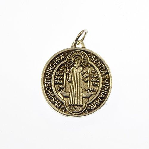 St. Medaille Benedikt (St. Benedict Catholic Medaille - Silber Farbe Metall 2,5 cm [Schmuck])