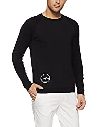 Jack & Jones Mens Cotton Sweater (1986170002_Black_M)
