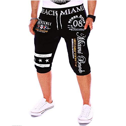 Beonzale Herren Jogging Hosen der neuen Männer der Männer Drawstring-elastische Taillen-Druck-lose Sport-Hosen (Glitzer Herren Hose)