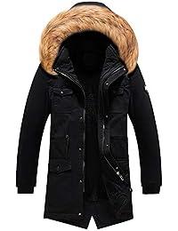 Amazon.it  pelliccia ecologica - Nero   Giacche e cappotti   Uomo ... 511bb19676f
