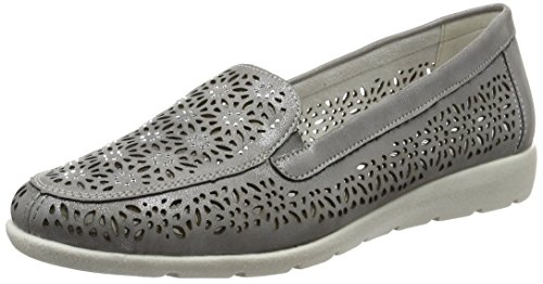 Remonte Damen D1918 Slipper, Grau (steel/42), 41 EU
