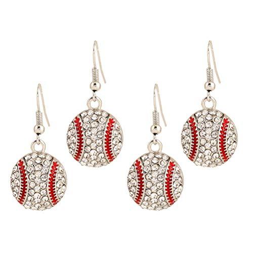 BESTOYARD Ohrringe Baseball Softball Kristall Baumeln Ohrringe Bling Sport Ball Ohrring für Frauen Mädchen